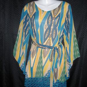Bell-Sleeved Mini-Dress